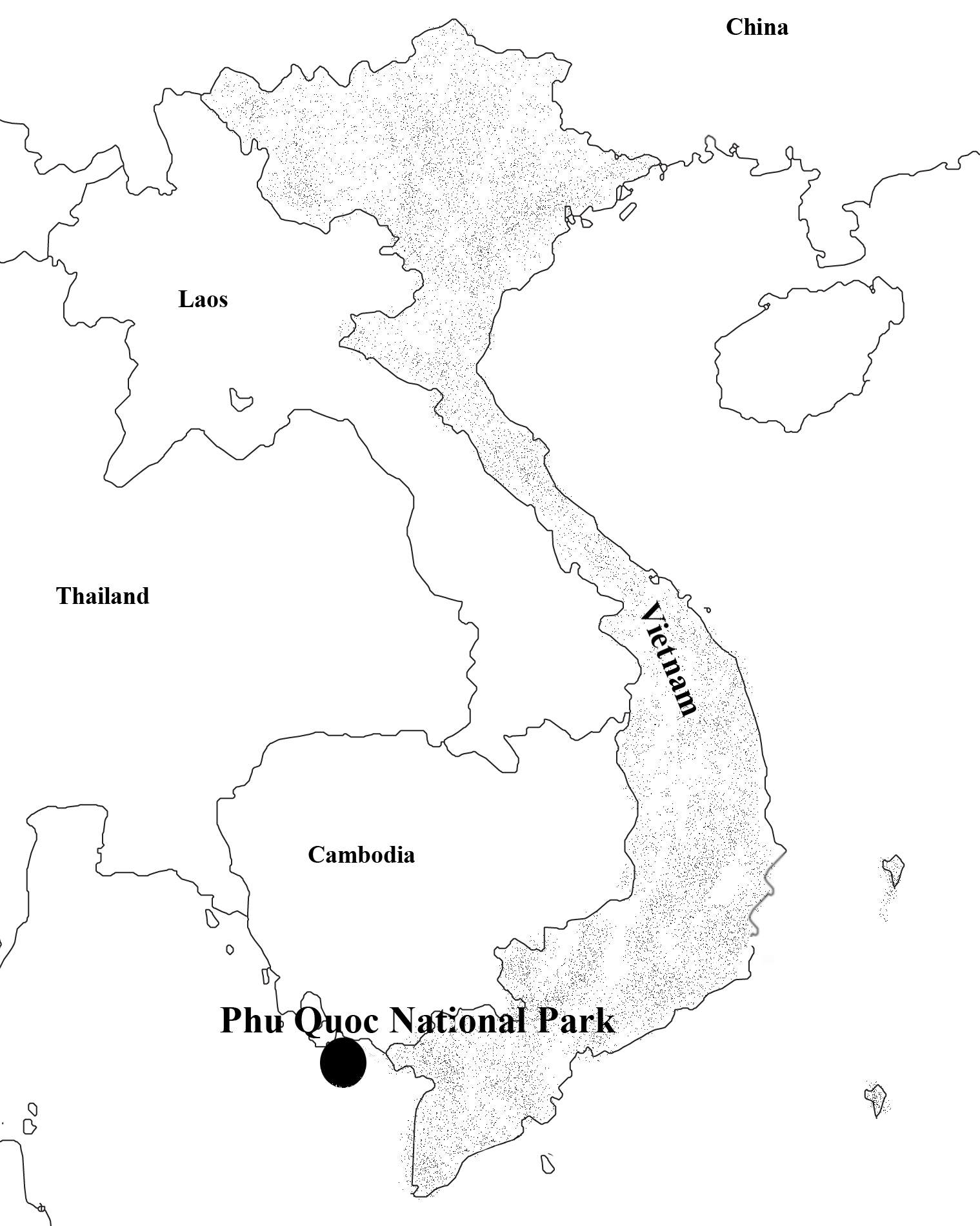 Fig.1. Locality of Phu Quoc National Park, Vietnam.